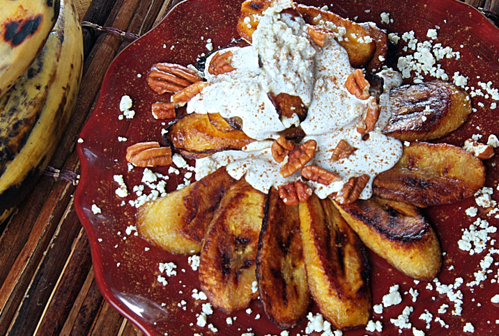 PLANTAINS WITH CREAM AND FRESH CHEESE