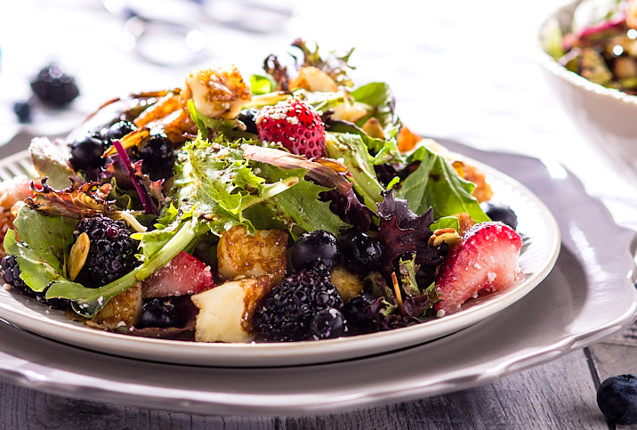TWO CHEESE TRIPLE BERRY SALAD