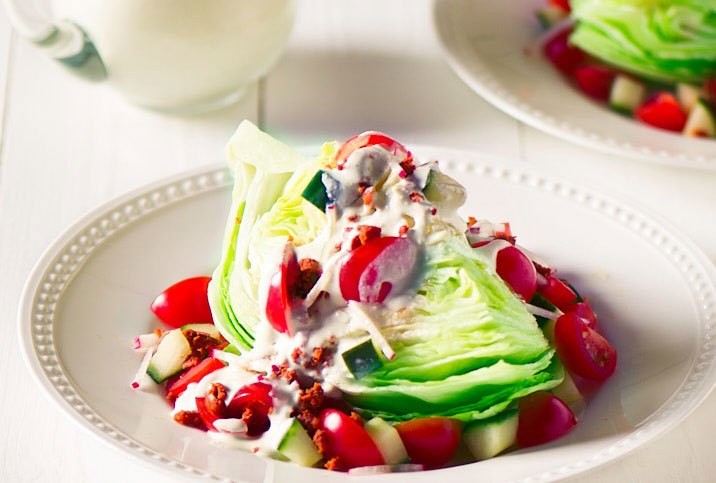 WEDGE SALAD WITH CHORIZO