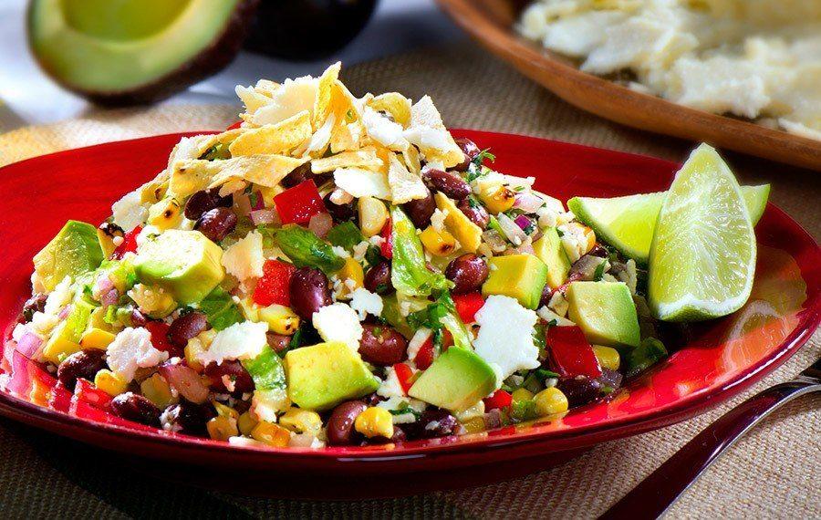 Black Bean Salad and Roasted Corn