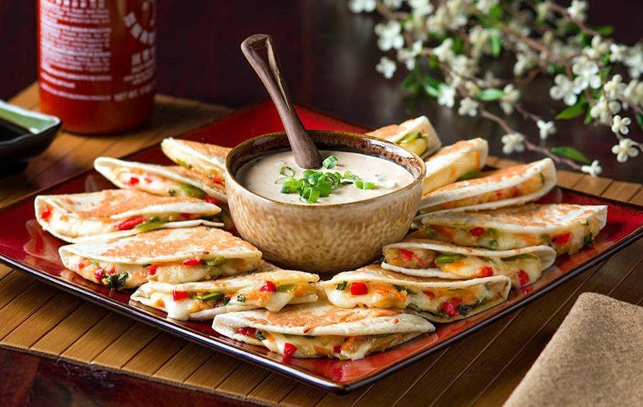 Asian Vegetarian Quesadillas V V Supremo Foods Inc