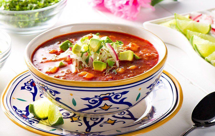 Chorizo and Hominy Soup