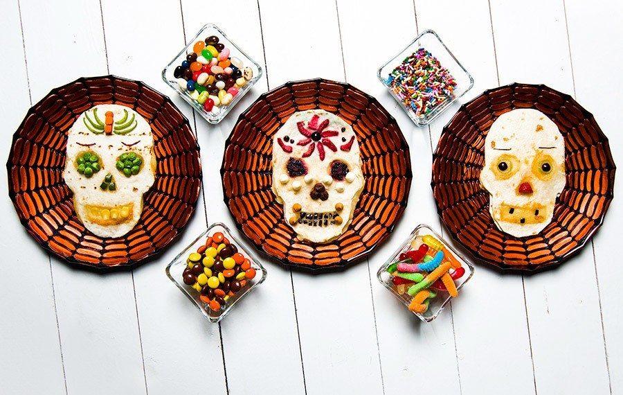 Day of the Dead Skull Quesadilla