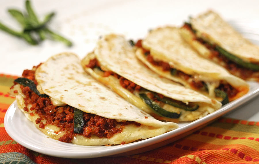 Chorizo & Poblano Quesadillas