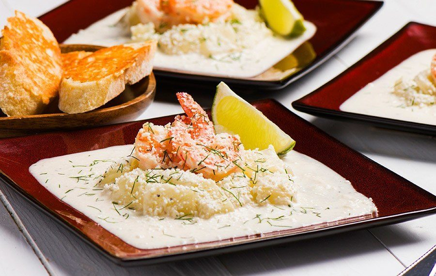 Creamed Fennel with Shrimp