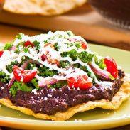 Kale and Black Bean Tostadas