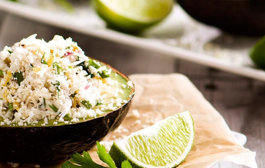 Stuffed Avocado with Spicy Crab Ceviche