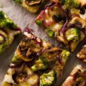3 Cheese Broccoli & Mushroom Pizza