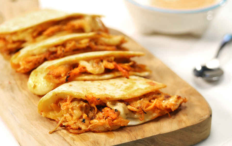 Quesadillas de Pollo con Chipotle