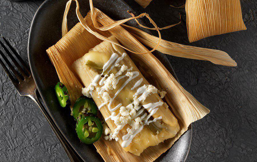 Tamales with Cheese and Jalapeño