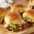Cheesy Roast Beef Sliders