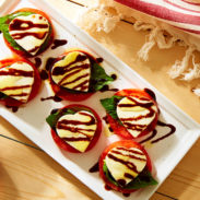 with this Caprese salad, a delicious sample of love and flavor!