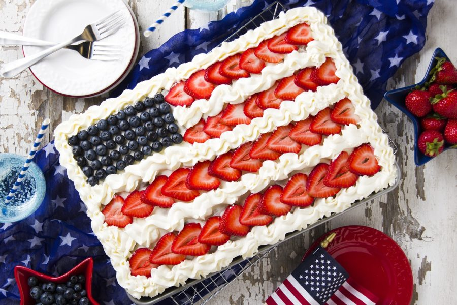 Chocolate Flag Cake