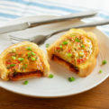 Chorizo Egg Quiche on Toast