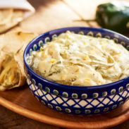 Creamy Poblano Strips. This deliciousstove top recipebrings the best earthy flavors together like Poblano Chile Peppers, garlic and a jalapeño for your pleasure, cut into Raja Strips and covered in a delicious cheese cream. Enjoy!