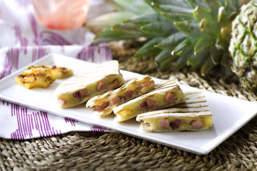 Grilled Hawaiian Quesadillas (Sincronizadas)