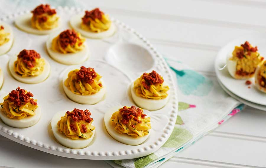Chorizo Deviled Eggs