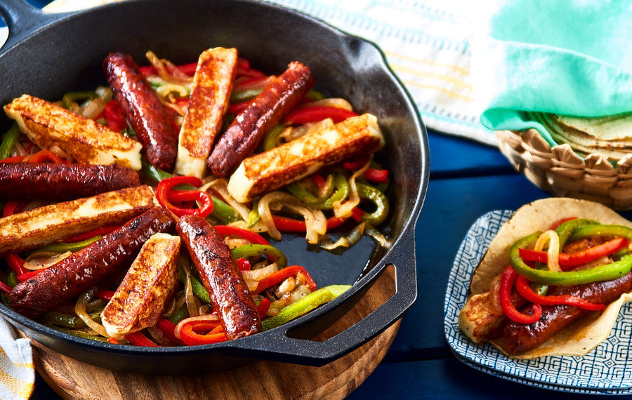 Chorizo and Cheese Fajitas