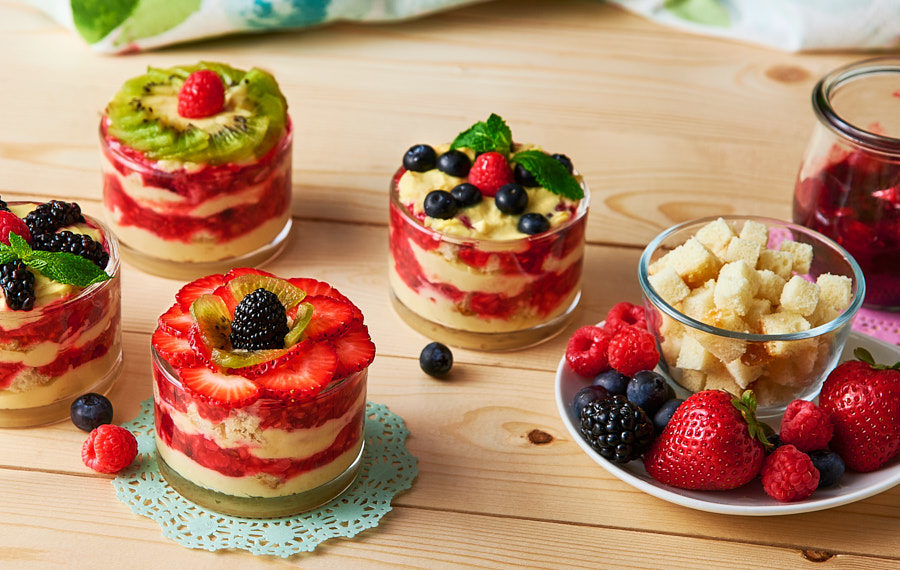 Three Berry Trifle