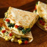Quesadillas Vegetarianas de Kale y Vino Blanco