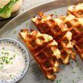 Cauliflower 2 Cheese Waffles