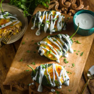 Rotisserie Chicken Stuffed Poblano Peppers