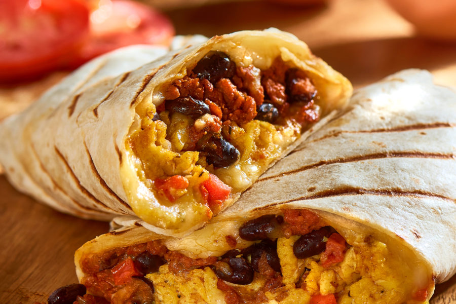 Chorizo & Egg Breakfast Burritos