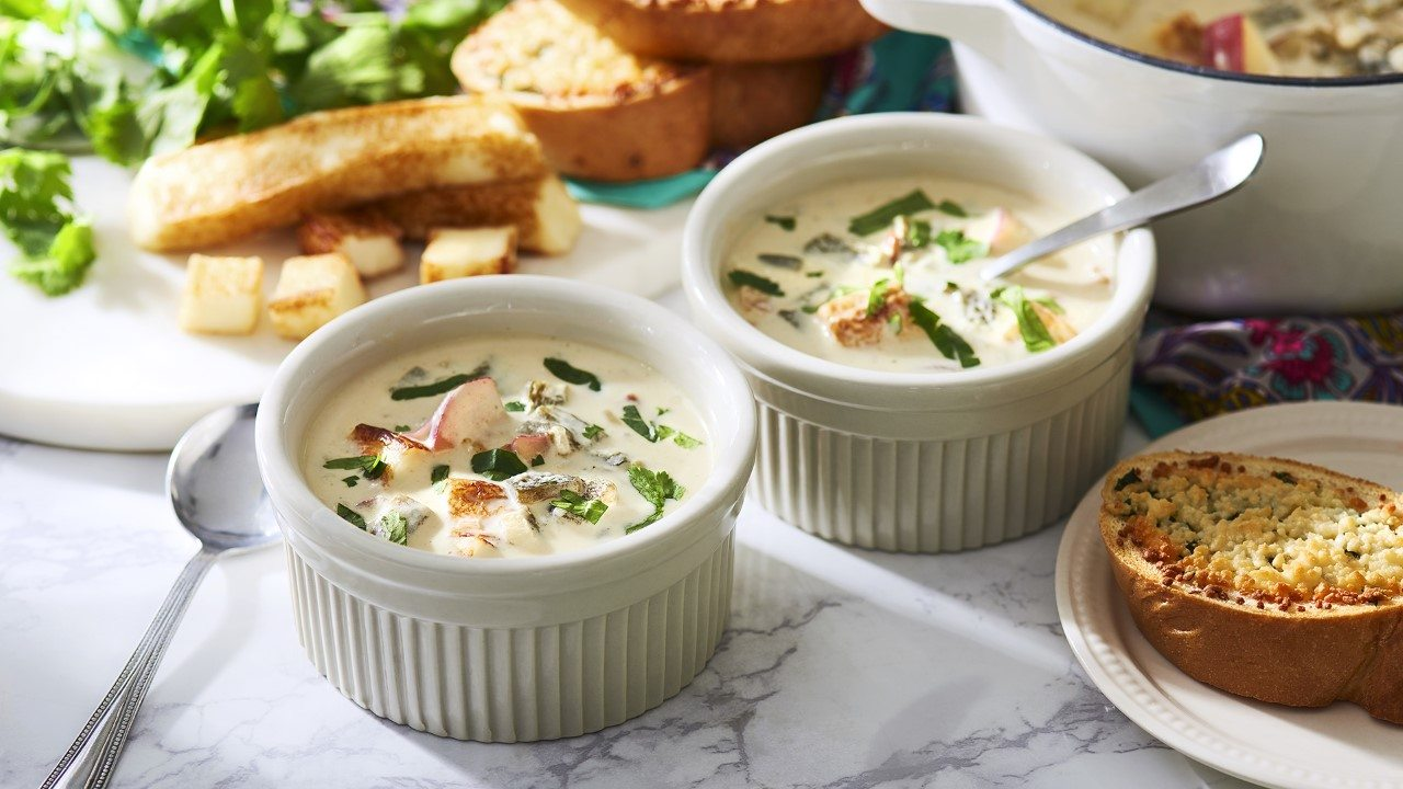 Grilled Caribe® Cheese Soup