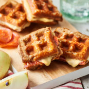 Waffle Grilled Cheese Sandwich Duo