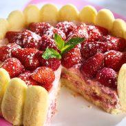 Strawberry Charlotte Cake