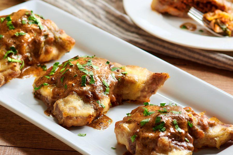 Chuletas de Puerco con Chorizo
