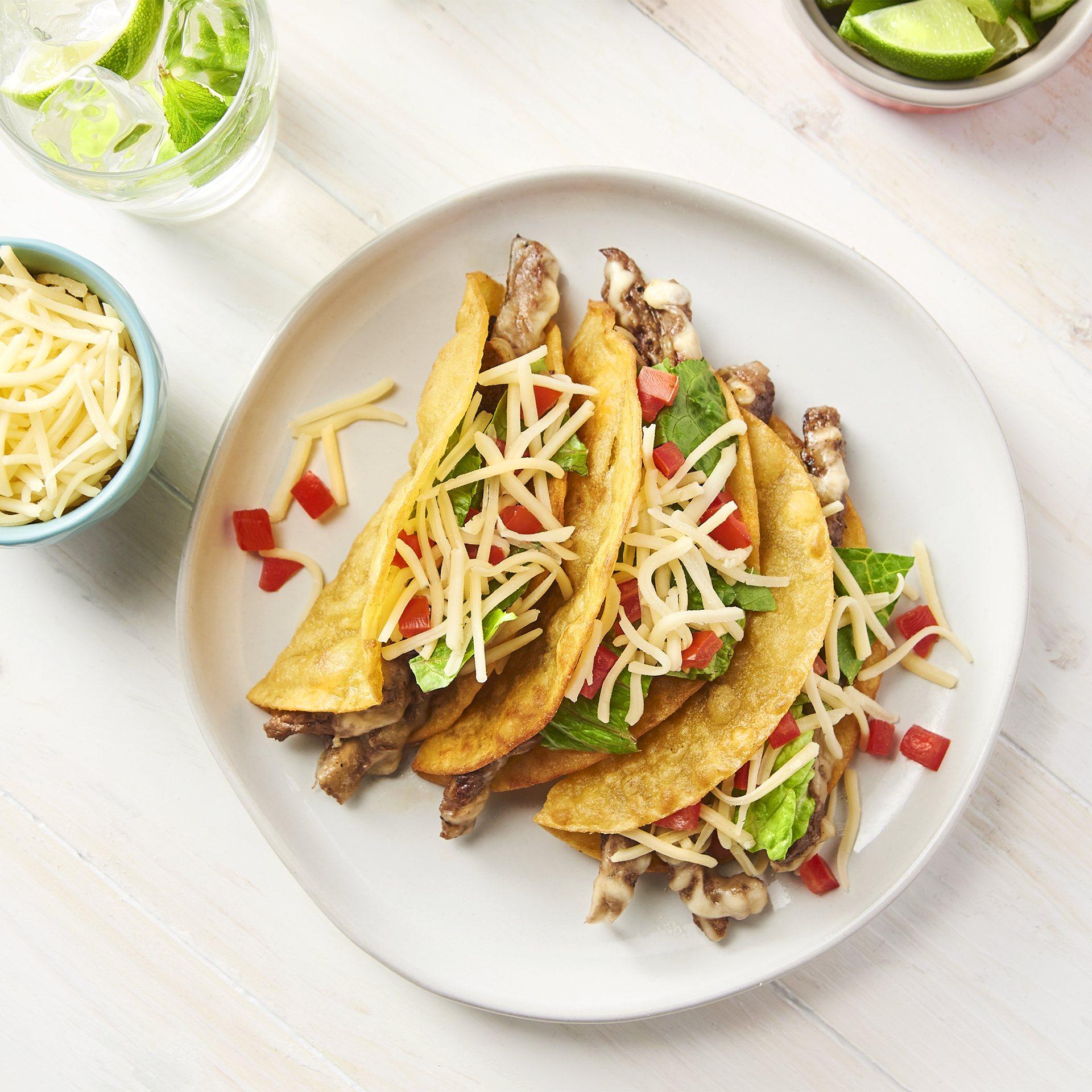 Crunchy Steak Tacos