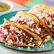 Steak and Queso Fresco Street Taco