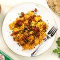 Huevos Revueltos con Chorizo