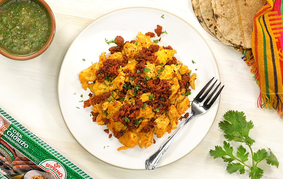 Pork Chorizo and Scrambled Eggs