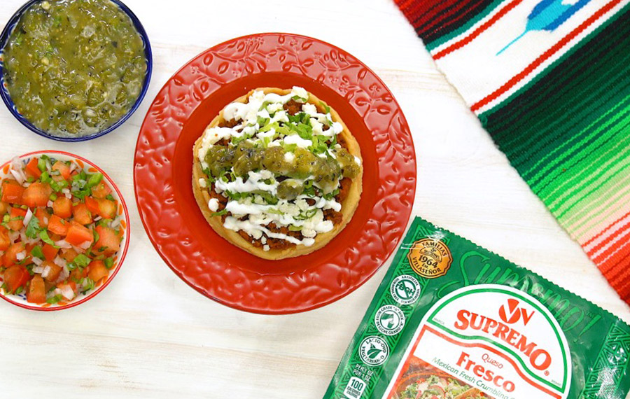 Sopes with Queso Fresco