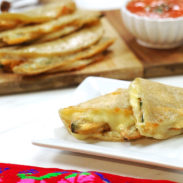 Fried Poblano Strips Quesadilla