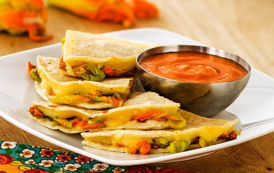 Squash Blossom Quesadillas - V&V Supremo Foods, Inc.